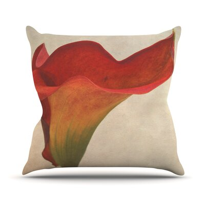 Calla by Iris Lehnhardt Flower Throw Pillow Size: 20 H x 20 W x 4 D
