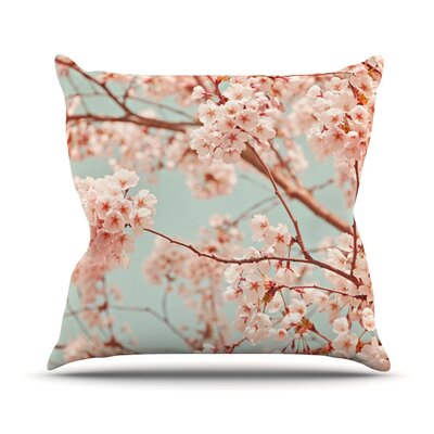 Blossoms All Over by Iris Lehnhardt Flowers Throw Pillow Size: 16 H x 16 W x 3 D