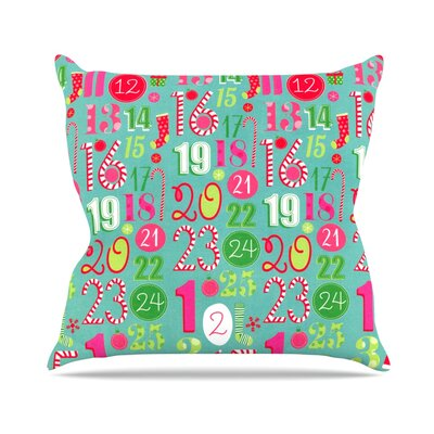 Merry Countdown by Heidi Jennnings Throw Pillow Size: 18 H x 18 W x 3 D