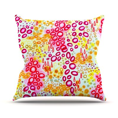 Persuasin by Ebi Emporium Throw Pillow Size: 18 H x 18 W x 3 D, Color: Pink/Yellow