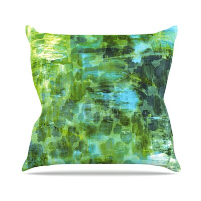 Jungle II by Ebi Emporium Throw Pillow Size: 16 H x 16 W x 3 D