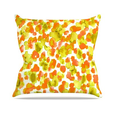 Giraffe Spots by Ebi Emporium Throw Pillow Size: 26 H x 26 W x 5 D, Color: Orange