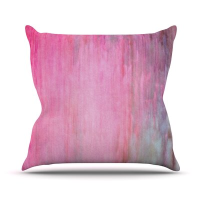 Color Wash by Iris Lehnhardt Throw Pillow Size: 18 H x 18 W x 3 D, Color: Pink