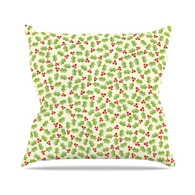Oh Holly Night by Heidi Jennnings Throw Pillow Size: 18 H x 18 W x 3 D