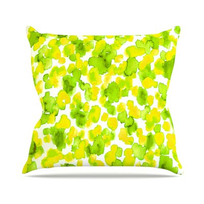 Giraffe Spots by Ebi Emporium Throw Pillow Size: 18 H x 18 W x 3 D, Color: Lomon Lime