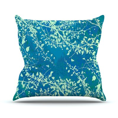 Twigs Silhouette by Iris Lehnhardt Throw Pillow Size: 16 H x 16 W x 3 D, Color: Teal