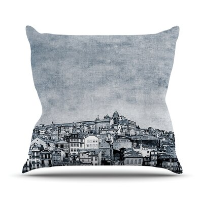 A Riberia by Ingrid Beddoes City Throw Pillow Size: 26 H x 26 W x 5 D