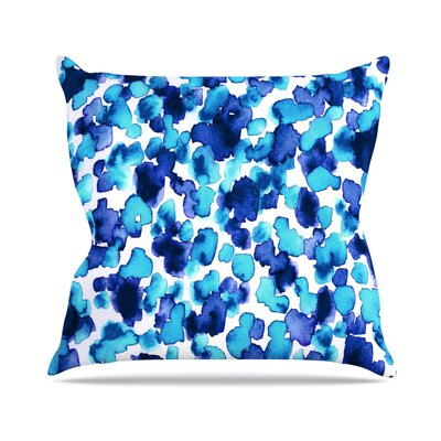 Giraffe Spots by Ebi Emporium Throw Pillow Size: 26 H x 26 W x 5 D, Color: Aqua