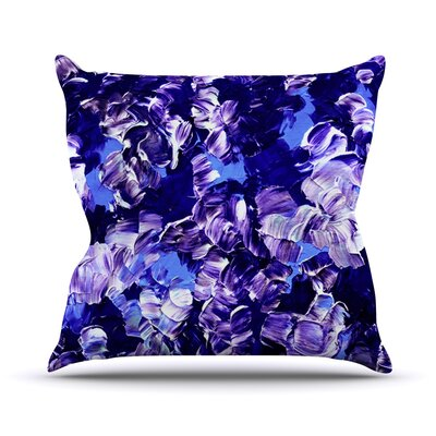 Floral Fantasy by Ebi Emporium Throw Pillow Size: 26 H x 26 W x 5 D