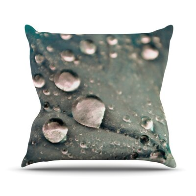 Water Droplets by Iris Lehnhardt Throw Pillow Size: 18 H x 18 W x 3 D, Color: Gray