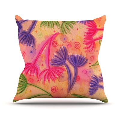 Cow Parsley by Ebi Emporium Throw Pillow Size: 18 H x 18 W x 3 D