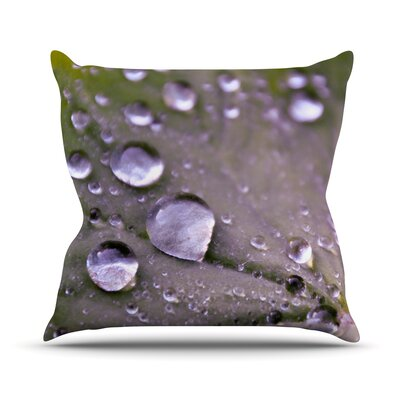 Water Droplets by Iris Lehnhardt Throw Pillow Size: 20 H x 20 W x 4 D, Color: Purple