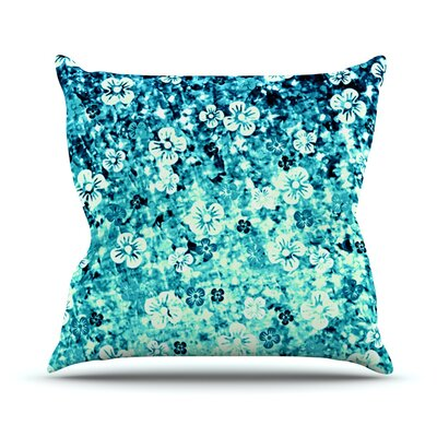 Flower Power by Ebi Emporium Throw Pillow Size: 18 H x 18 W x 3 D, Color: Blue