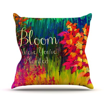 Bloom Where Youre Planted by Ebi Emporium Floral Throw Pillow Size: 20 H x 20 W x 4 D