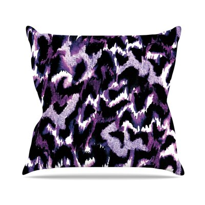 Wild at Heart by Ebi Emporium Throw Pillow Size: 18 H x 18 W x 3 D, Color: Purple