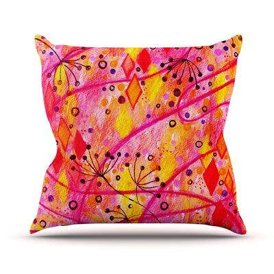 Into the Fall by Ebi Emporium Throw Pillow Size: 26 H x 26 W x 5 D