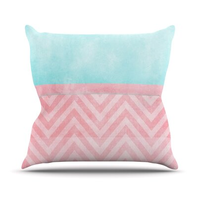 Light Chevron by Ingrid Beddoes Throw Pillow Size: 16 H x 16 W x 3 D