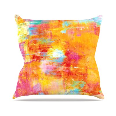 Off The Grid by Ebi Emporium Rainbow Throw Pillow Size: 26 H x 26 W x 5 D