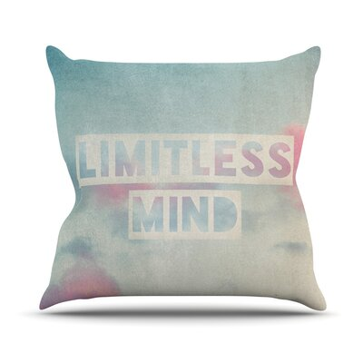 Limitless Mind by Ingrid Beddoes Clouds Throw Pillow Size: 18