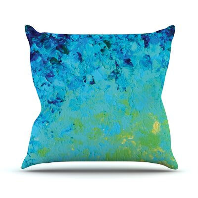 True Reflection by Ebi Emporium Throw Pillow Size: 18 H x 18 W x 3 D