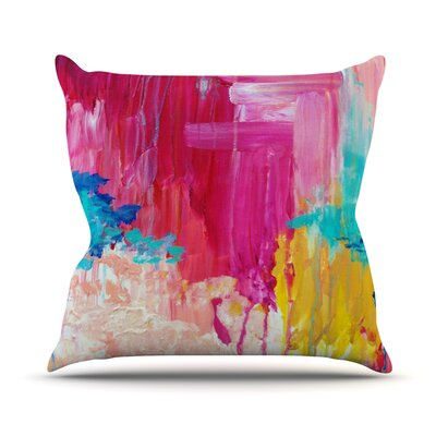 Elated by Ebi Emporium Throw Pillow Size: 18 H x 18 W x 3 D