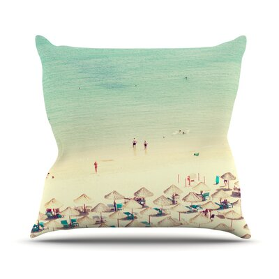 Happy Summer by Ingrid Beddoes Beach Throw Pillow Size: 18 H x 18 W x 3 D