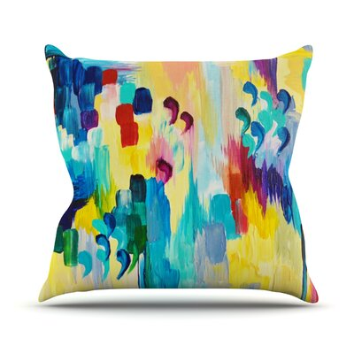 Dont Quote Me by Ebi Emporium Throw Pillow Size: 20 H x 20 W x 4 D