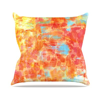 Pastel Jungle by Ebi Emporium Throw Pillow Size: 26 H x 26 W x 5 D