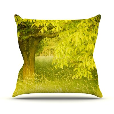 Summer by Iris Lehnhardt Trees Throw Pillow Size: 16 H x 16 W x 3 D