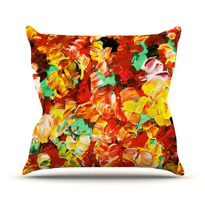 Floral Fantasy II by Ebi Emporium Throw Pillow Size: 26 H x 26 W x 5 D