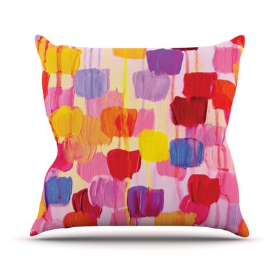 Dotty by Ebi Emporium Throw Pillow Size: 18 H x 18 W x 3 D