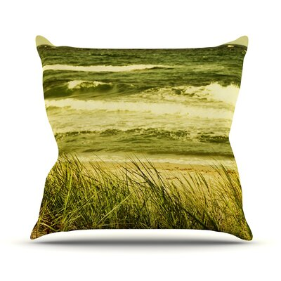 Dunes and Waves by Iris Lehnhardt Throw Pillow Size: 16 H x 16 W x 3 D