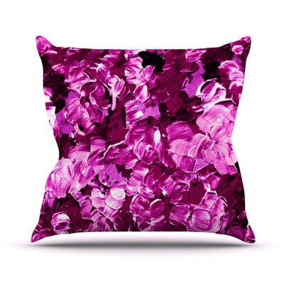 Floral Fantasy III by Ebi Emporium Throw Pillow Size: 16 H x 16 W x 3 D