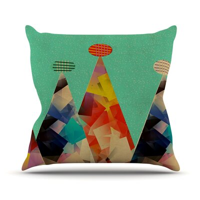 Rainbow Peaks by Bri Buckley Throw Pillow Size: 16 H x 16 W x 1 D