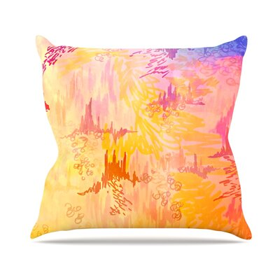 Sky Risers II by Ebi Emporium Throw Pillow Size: 18 H x 18 W x 3 D
