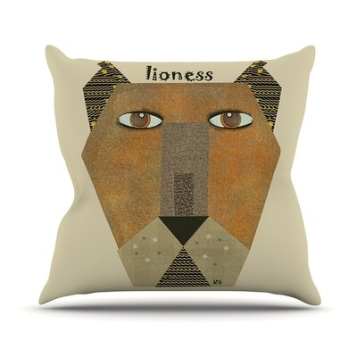 Lioness by Bri Buckley Throw Pillow Size: 20 H x 20 W x 1 D