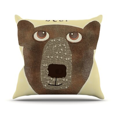 Bear by Bri Buckley Throw Pillow Size: 20 H x 20 W x 1 D