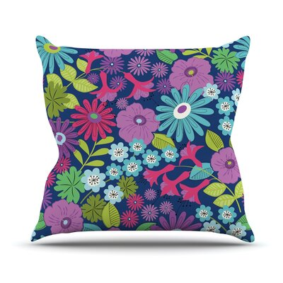 Lula by Jacqueline Milton Throw Pillow Size: 16 H x 16 W x 3 D, Color: Purple/Blue