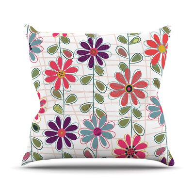 Fall Flowers by Jolene Heckman Floral Throw Pillow Size: 20 H x 20 W x 4 D