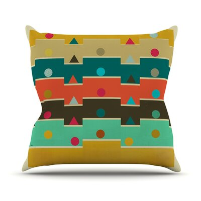 Modern Graphics  Geometry Throw Pillow Size: 26 H x 26 W x 1 D