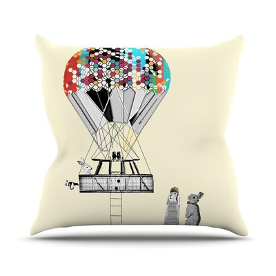 Adventure Days by Bri Buckley Throw Pillow Size: 16 H x 16 W x 1 D