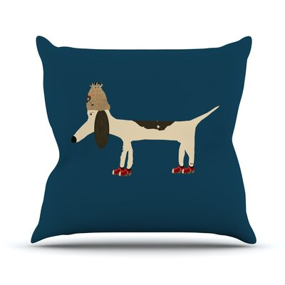 Chien by Bri Buckley Throw Pillow Size: 26 H x 26 W x 1 D