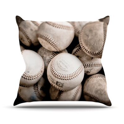 On the Mound by Debbra Obertanec Baseball Throw Pillow Size: 26 H x 26 W x 1 D