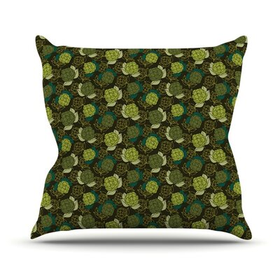 Camillia Dark by Holly Helgeson Throw Pillow Size: 18'' H x 18'' W x 1