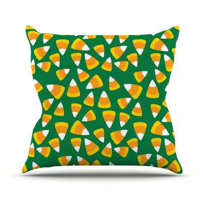 Kandy Korn Throw Pillow Size: 16 H x 16 W x 3 D