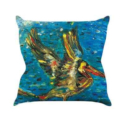 Seabirds by Josh Serafin Throw Pillow Size: 18 H x 18 W x 3 D
