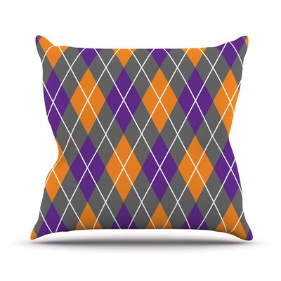 Argyle Throw Pillow Size: 18 H x 18 W x 3 D, Color: Dusk