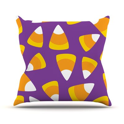 Kandy Korn Throw Pillow Size: 20 H x 20 W x 4 D
