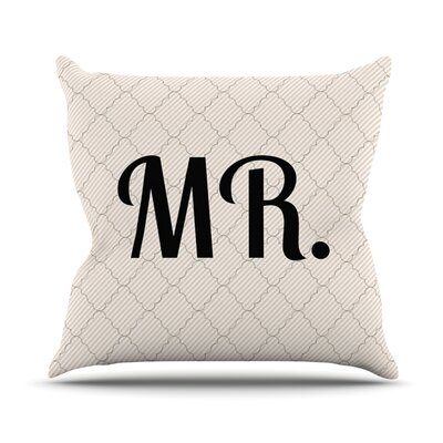 MR Throw Pillow Size: 16 H x 16 W x 3 D