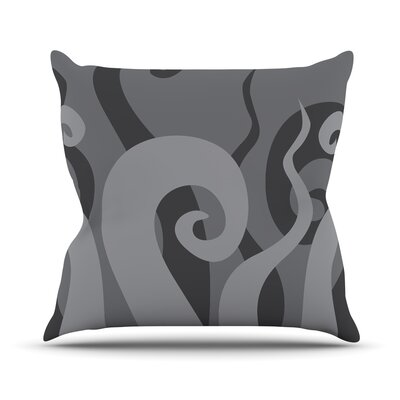 Poor Unfortunate Souls Throw Pillow Color: Black, Size: 20 H x 20 W x 4 D